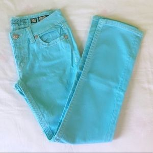 Miss me Aqua blue jeans size 29